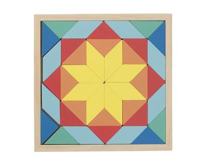 Wichtelidee für Kinder: Holz-Mosaik-Puzzle