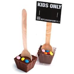 Wichtelgeschenke für Kinder: Schokolade am Löffel