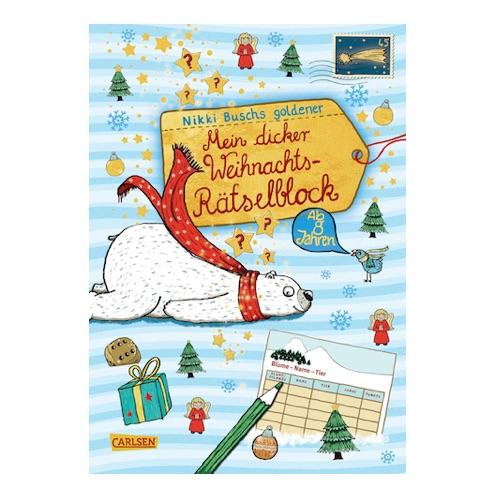 Weihnachtsrätselblock für Kinder ab 8 Jahren
