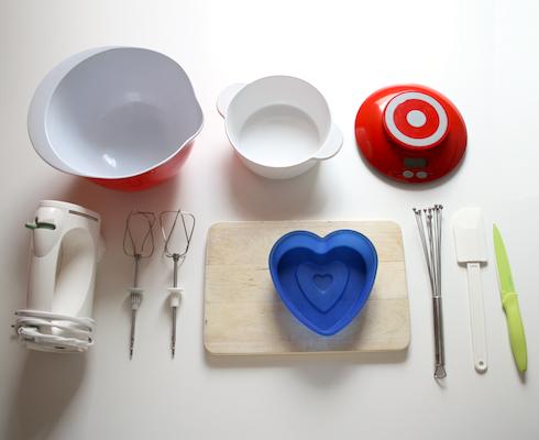 Schokoladen-Herzkuchen Rezept: benötigte Küchengeräte