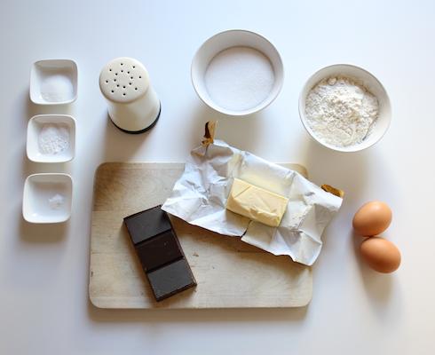 Schokoladen-Herzkuchen Rezept: Zutaten