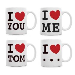 Valentinsgeschenke ohne Schokolade: I love Tasse