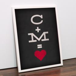 Valentinsgeschenke ohne Schoko: Poster mit Initialien