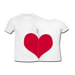 Originelle Geschenkidee zum Valentinstag: Couple T-Shirts