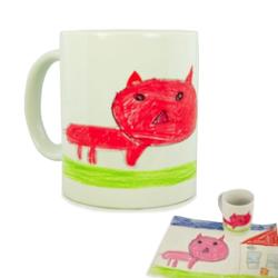 Geschenkidee für Väter & Opas: Tasse bedruckt mit Kinderbild