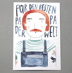 Postkarte zum Vatertag