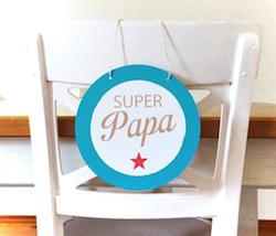 Geschenkidee zum Vatertag: Super Papa Schild
