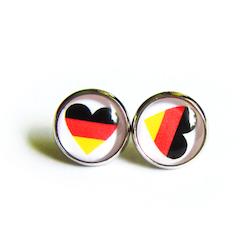 Geschenkidee Fussball WM 2014: Deutschland Ohrstecker