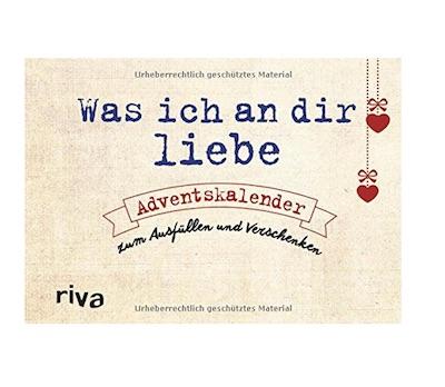 Origineller Adventskalender für Verliebte - jeden Tag eine Liebeserkärung zum Ausfüllen