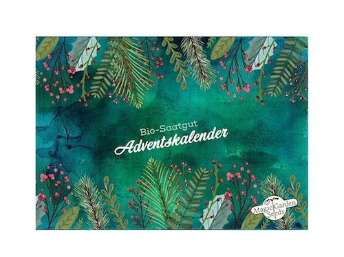 Adventskalender ohne Schokolade: Bio Saatgut Adventskalender
