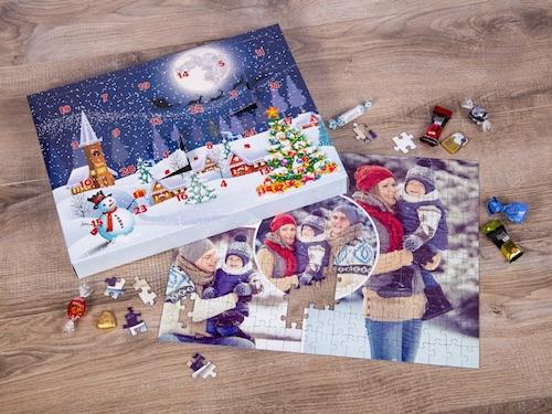 Außergewöhnlicher Adventskalender gefüllt mit individuellem Fotopuzzle