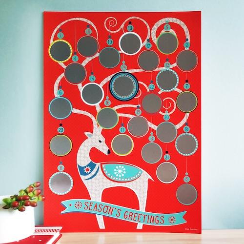 Rubbel-Adventskalender mit Bildern