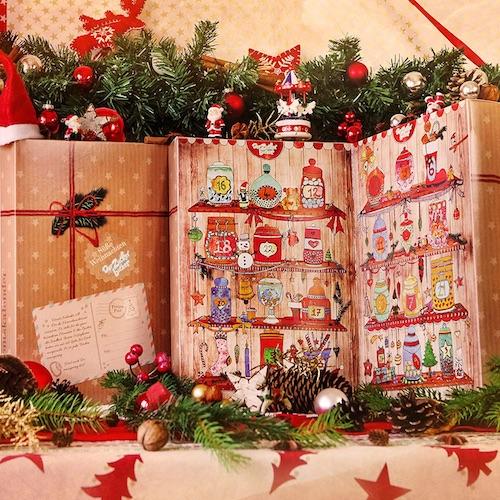 Zauberhafter Adventskalender gefüllt mit Süßigkeiten von früher