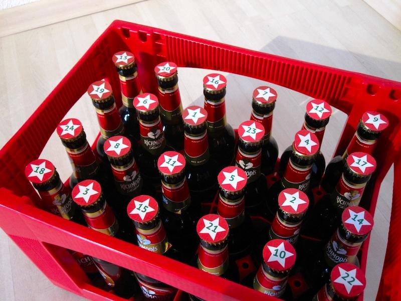Selbstgebastelter Bier-Adventskalender