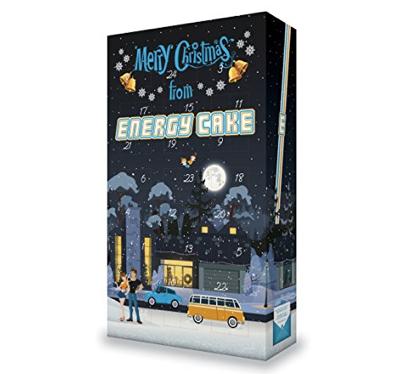 Adventskalender für Männer gefüllt mit Energie Cake Riegeln für Sportler