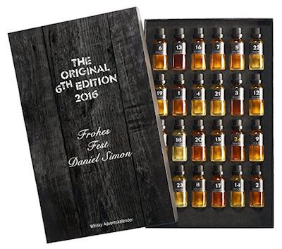 Adventskalender für Männer: Whiskey Adventskalender mit individueller Gravur - Edition 2016