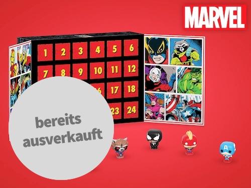Marvel Adventskalender mit kleinen Vinylfiguren zum Aufstellen