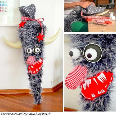 Bastelanleitung für Monster-Schultüte