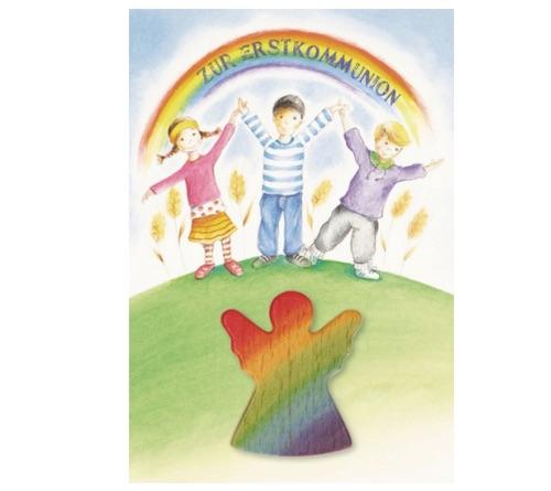 Beispiel: Kommunionkarte mit Engel