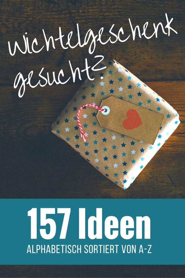 Wichtelgeschenk mit Buchstabe A, B, C, D, E, F, .... X, Y, Z gesucht? - Über 157 Ideen für Wichtelgeschenke, alphabetisch sortiert von A-Z