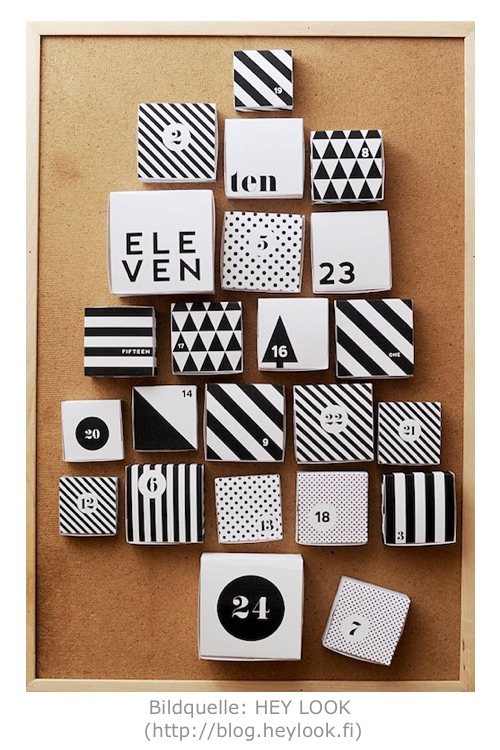 Adventskalender Printable von HEY LOOK