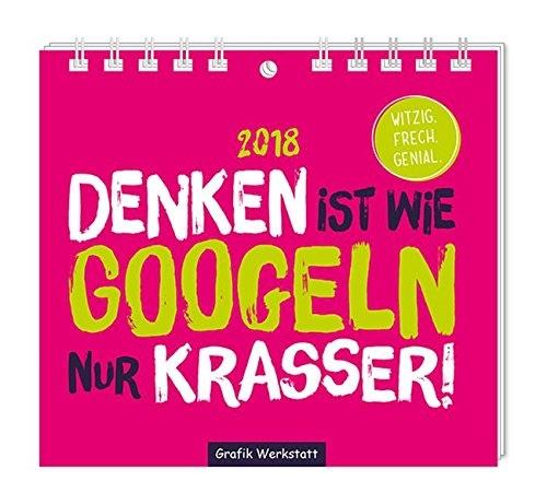 Lustiges Wichtelgeschenk mit Buchstabe K: Kalender mit lustigen Sprüchen für 2018