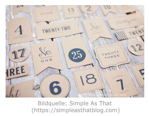 Adventskalender Printable von Simple As That