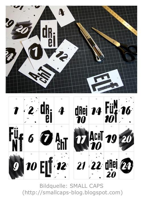 Adventskalender Printable von SMALL CAPS