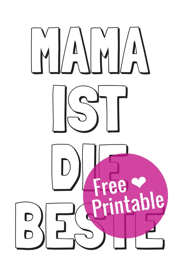 Free Printable: Gratis Malvorlage zum Muttertag zum Ausmalen