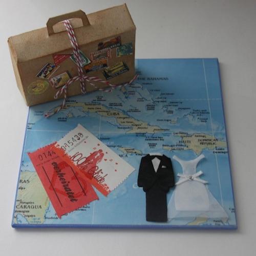 Geldgeschenk für die Hochzeitsreise in die Karibik