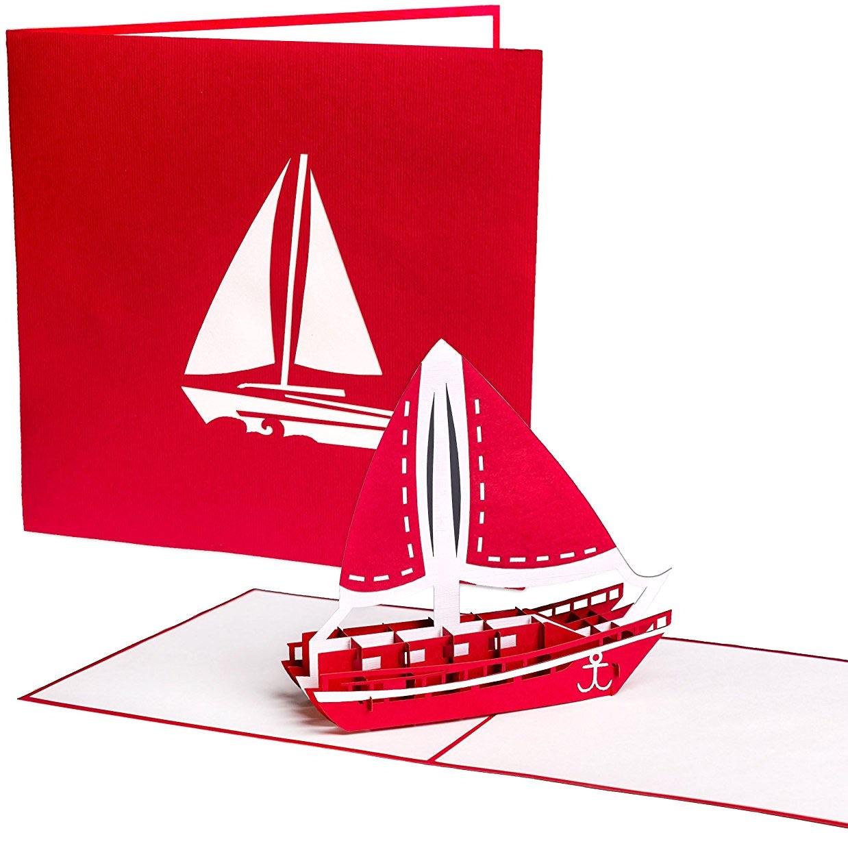 Spruch für ein martimes Geldgeschenk mit Schiff