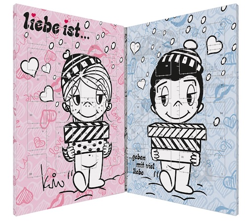 """Adventskalender für Paare: """"Liebe ist..."""" Pärchen Adventskalender"""