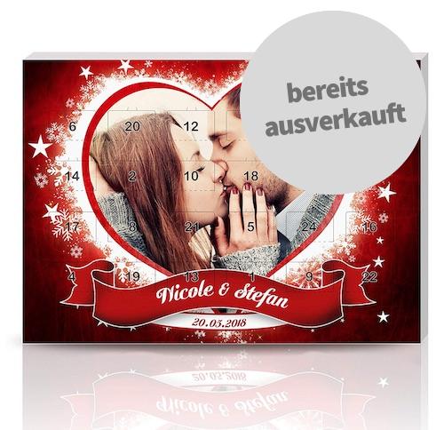 Personalisierter Adventskalender für Verliebte
