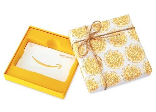 Geschenkidee zur Konfirmation: Amazon Gutschein
