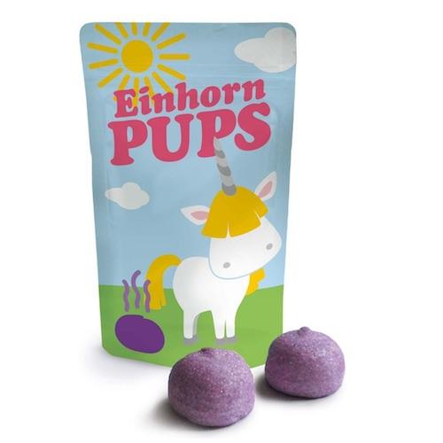 Süßigkeiten für die Einhorn-Schultüte: Einhorn-Pups