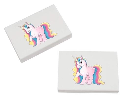 Kleinigkeit für die Einhorn-Schultüte: Unicorn Radiergummis
