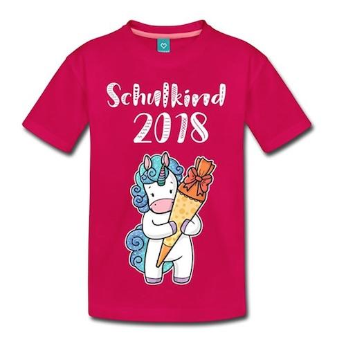 Schulkind Shirt mit Einhorn-Motiv