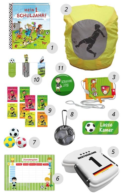 Schultüte für Jungs füllen - Beispiel: Fussball Schultüte