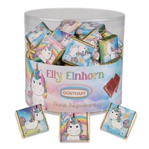 Süßigkeiten für die Einhorn-Schultüte: Mini-Schoki mit Einhorn Motiven
