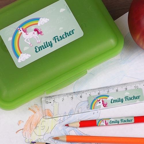 Namensetiketten für Schulsachen