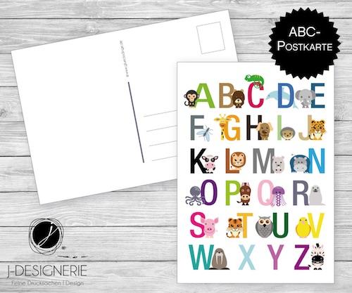 Beispiel: ABC Postkarte