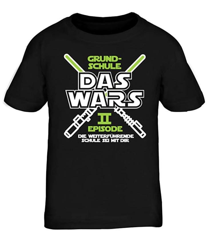 Geschenkidee zum Schulstart: witziges T-Shirt Grundschule DAS WARS