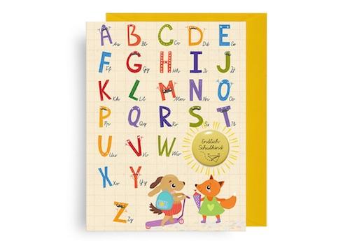 Beispiel: Glückwunschkarte ABC mit Button