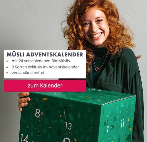 Meine Adventskalender-Empfehlung 2019: Müsli-Adventkalender von mymuesli