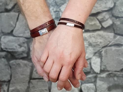 Geschenkidee zum Valentinstag: personalisierte Partnerarmbänder