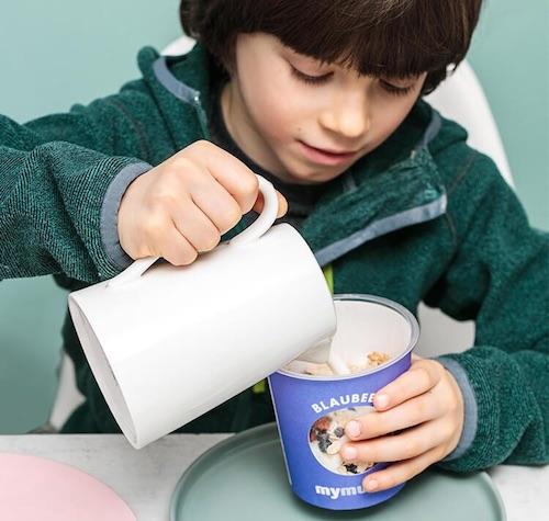Beispiel: Müsli-Portion zum Mitnehmen als Geschenkidee zur Einschulung in die 5. Klasse
