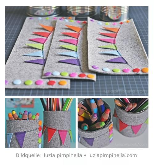 DIY Stiftedose aus Blechdose basteln