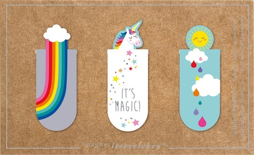 Beispiel für eine Geschenkidee zur Umschulung: Magnetlesezeichen