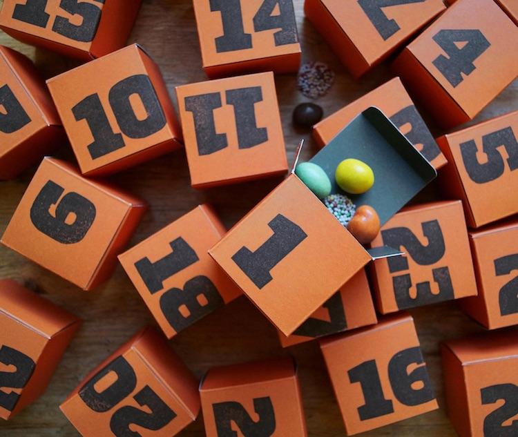 24 Adventskalender-Würfel zum Befüllen