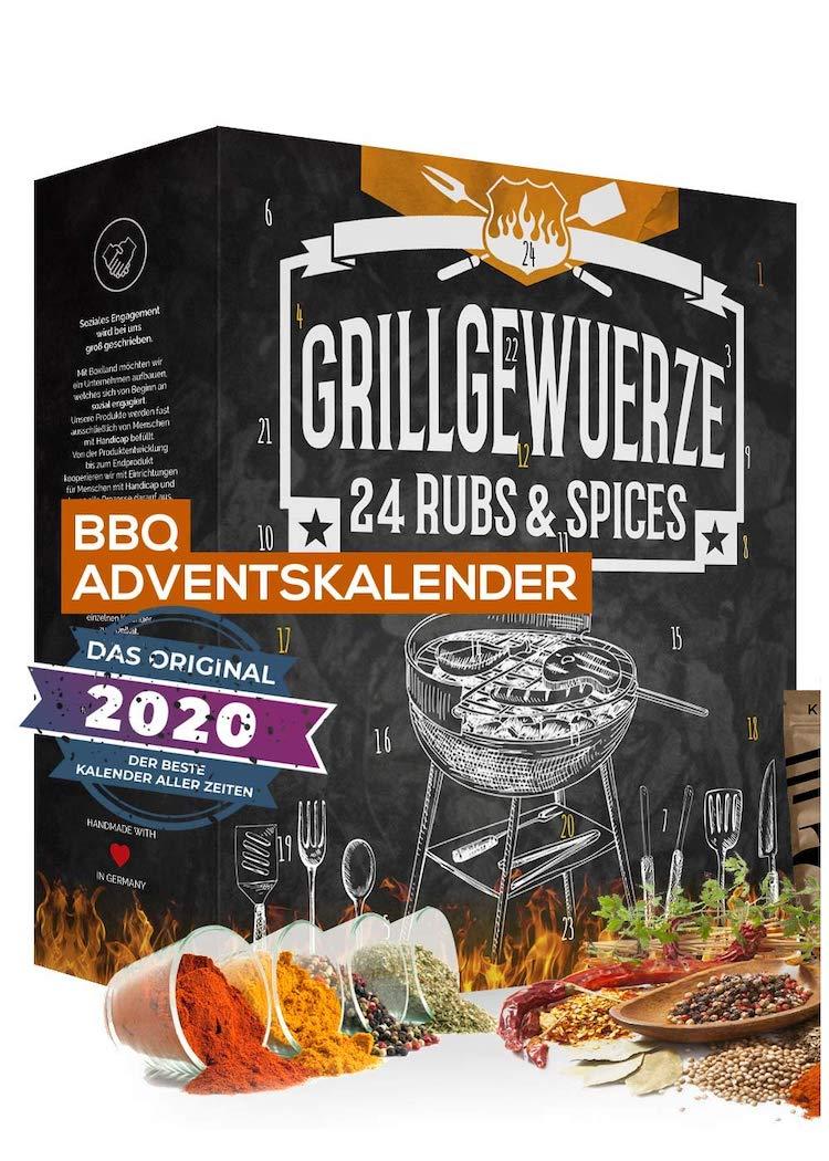 Adventskalender für Männer: Adventskalender gefüllt mit 24 BBQ Grillgewürzen